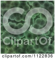 Clipart Of A Seamless Green Bacteria Background Pattern 24 Royalty Free CGI Illustration