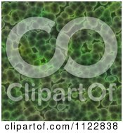 Clipart Of A Seamless Green Bacteria Background Pattern 26 Royalty Free CGI Illustration