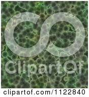 Clipart Of A Seamless Green Bacteria Background Pattern 29 Royalty Free CGI Illustration