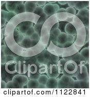 Clipart Of A Seamless Green Bacteria Background Pattern 4 Royalty Free CGI Illustration