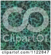 Clipart Of A Seamless Green Bacteria Background Pattern 2 Royalty Free CGI Illustration