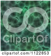 Clipart Of A Seamless Green Bacteria Background Pattern 3 Royalty Free CGI Illustration
