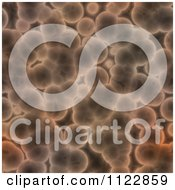 Clipart Of A Seamless Brown Bacteria Background Pattern 4 Royalty Free CGI Illustration