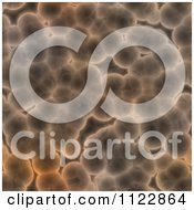 Clipart Of A Seamless Brown Bacteria Background Pattern 2 Royalty Free CGI Illustration