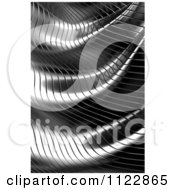 Clipart Of A 3d Wavy Metal Background Royalty Free CGI Illustration by stockillustrations