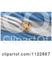 3d Waving Flag Of Argentina Rippling And Waving by stockillustrations