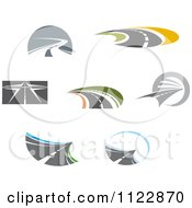 Clipart Of Roads 2 Royalty Free Vector Illustration