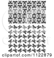 Clipart Of Black And White Butterfly Seamless Background Patterns Royalty Free Vector Illustration