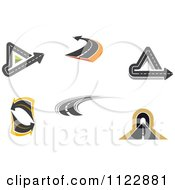 Clipart Of Roads 1 Royalty Free Vector Illustration