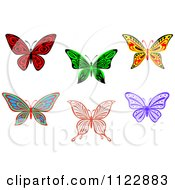 Clipart Of Colorful Butterflies Royalty Free Vector Illustration
