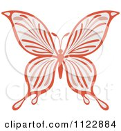 Clipart Of A Pastel Butterfly Royalty Free Vector Illustration by Vector Tradition SM