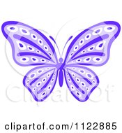 Clipart Of A Purple Butterfly Royalty Free Vector Illustration by Seamartini Graphics