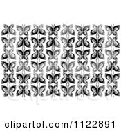 Clipart Of A Black And White Butterfly Seamless Background Pattern 3 Royalty Free Vector Illustration