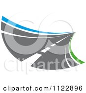 Clipart Of A Road 6 Royalty Free Vector Illustration
