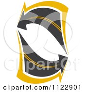 Clipart Of An Arrow Road 4 Royalty Free Vector Illustration