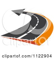 Clipart Of An Arrow Road 2 Royalty Free Vector Illustration