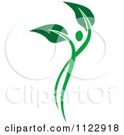 Clipart Of A Green Leaf Person 8 Royalty Free Vector Illustration by Vector Tradition SM