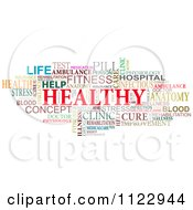 Clipart Of A Colorful Hearth Word Tag Collage Royalty Free Vector Illustration