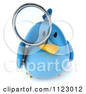 Clipart Of A 3d Bluebird Using A Magnifying Glass 2 Royalty Free CGI Illustration by Julos