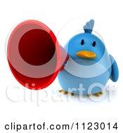 Clipart Of A 3d Bluebird Using A Megaphone 2 Royalty Free CGI Illustration