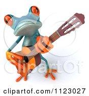 3d Turquoise Springer Frog Guitarist 1