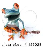 3d Turquoise Springer Frog Guitarist 2