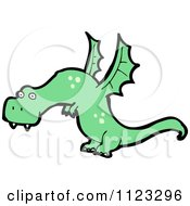 Fantasy Cartoon Of A Green Dragon 6 Royalty Free Vector Clipart