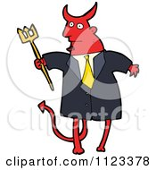 Fantasy Cartoon Of A Red Devil Monster 15 Royalty Free Vector Clipart by lineartestpilot