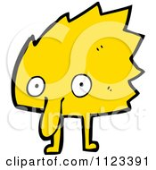 Fantasy Cartoon Of A Yellow Monster Or Alien Royalty Free Vector Clipart