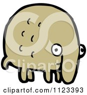Fantasy Cartoon Of A Brown Monster Or Alien Royalty Free Vector Clipart