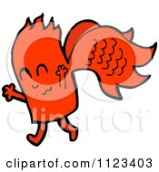 Fantasy Cartoon Of A Red Monster Or Alien Royalty Free Vector Clipart