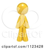 Clipart Of A 3d Gold Man Royalty Free CGI Illustration