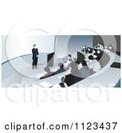 Clipart Of A Professor Teaching In A College Classroom With Students Taking Notes Royalty Free Vector Illustration