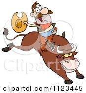 Rodeo Cowboy On A Bucking Bull