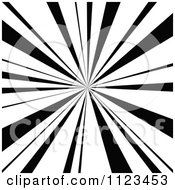Clipart Of A Black And White Sunbeam Ray Background 1 Royalty Free Vector Illustration by dero