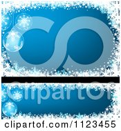 Clipart Of Blue Bauble Christmas Banners Royalty Free Vector Illustration