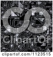 Clipart Of A Seamless Circuitry Texture Background Pattern Royalty Free CGI Illustration
