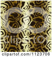 Clipart Of A Seamless Gold Animal Fur Print Background Pattern 1 Royalty Free CGI Illustration
