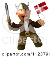 Clipart Of A 3d Viking With A Norway Flag 2 Royalty Free CGI Illustration by Julos