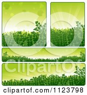 Clipart Of Green Plant Nature Website Banners Royalty Free Vector Illustration by dero