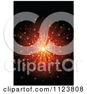 Clipart Of A Red And Orange Starburst Tunnel Royalty Free Vector Illustration by dero