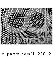 Clipart Of A Black And White Mesh Dot Texture Royalty Free Vector Illustration by dero