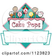 Cartoon Of A Cake Pops Logo With Copyspace 2 Royalty Free Vector Clipart
