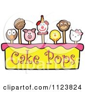 Cartoon Of A Cake Pops Logo 2 Royalty Free Vector Clipart
