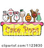 Cartoon Of A Cake Pops Logo 6 Royalty Free Vector Clipart