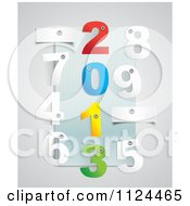 Clipart Of 3d Numbers And Eyelets With Year 2013 Down The Center Royalty Free Vector Illustration