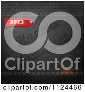 Clipart Of A Red 2012 And Happy New Year Stamped In Black Leather Royalty Free Vector Illustration