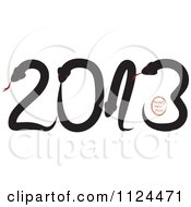 Clipart Of Happy New Year And Snakes Forming 2013 Royalty Free Vector Illustration