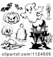 Sketched Black And White Halloween Items 1