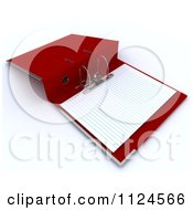 3d Red Lever Arch Binder With Ruled Paper